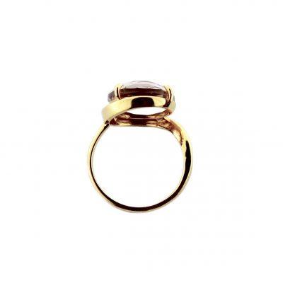 Anello oro giallo 18kt con ametista tonda