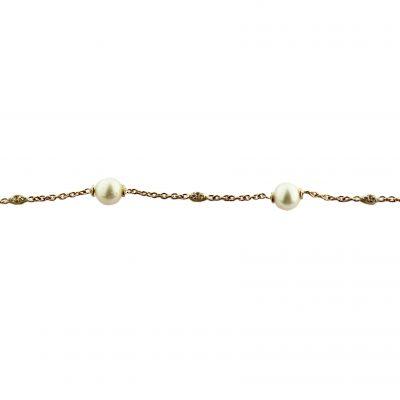 Bracciale oro giallo 18kt con perle Fresh Water e zirconi
