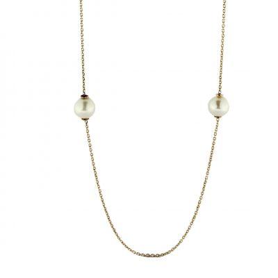Collana oro giallo 18Kt con perle Fresh Water