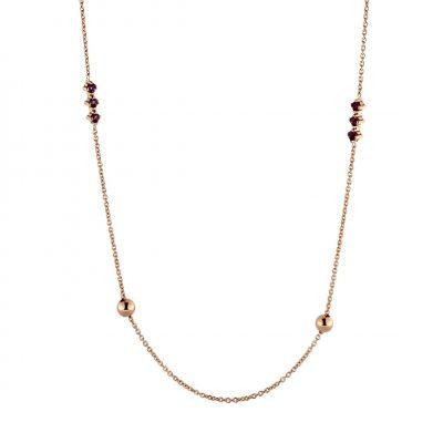 Collana oro rosso 18Kt con rodolite
