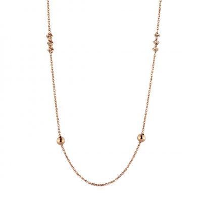 Collana oro rosa 18Kt con quarzo rosa