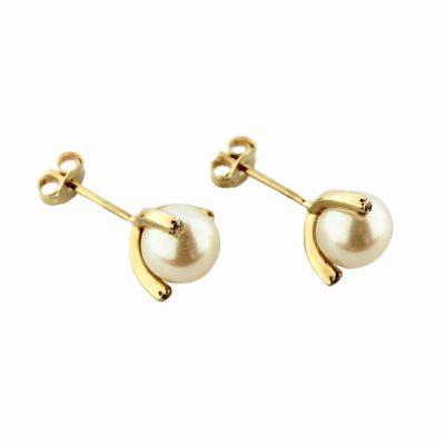 Orecchini oro giallo 18kt con perle Fresh Water e zirconi