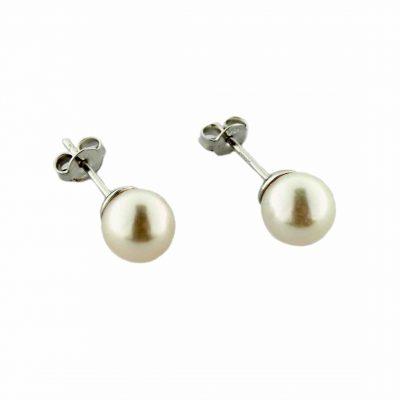 Orecchini oro bianco 18Kt con perle Fresh Water