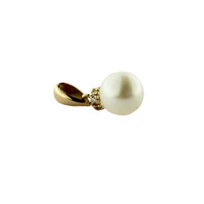 Pendente oro giallo 18Kt con perla Akoya